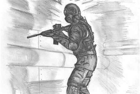 gas masked soldier  killerconfessions  deviantart
