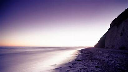 Sand Purple Ocean Sunrise Sea Cliff Sunset
