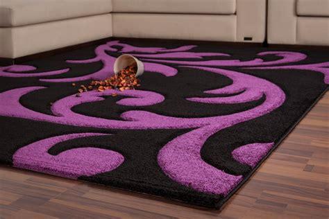 tapis moderne noir et violet 160x230 cm