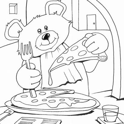 Pizza Coloring Bear Colouring Italie Coloriage Teddy
