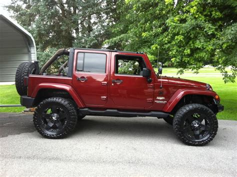 jeep maroon jeep wrangler unlimited mwbutterfly flickr