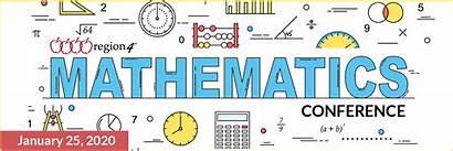 Math Banner Conference Mathematics Web Conferences Region
