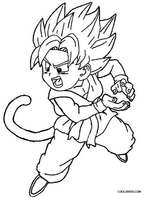 Goku Kleurplaat by Printable Goku Coloring Pages For Cool2bkids