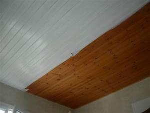 Lambris Peint En Blanc : peinture lambris plafond laquer blanc renovation en ~ Dailycaller-alerts.com Idées de Décoration