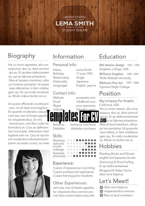 How To Make Your Resume Look More Appealing by College Student Resume
