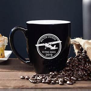 Aviator, Personalized, Coffee, Mug