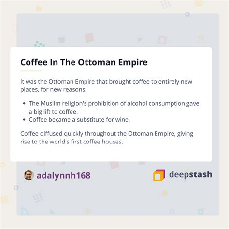 Any bean sent outside the empire was boiled so it could not be planted. Coffee In The Ottoman Empire - Deepstash