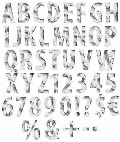 Paper Font Waves Fonts Alphabet Handmadefont Typography