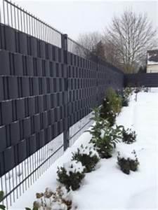 Sichtschutzzaun Kunststoff Zaun Steinzaun