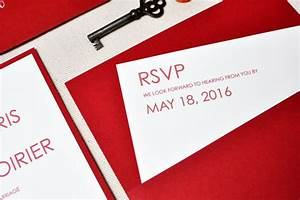 red and white modern letterpress wedding invitations With rsvp wedding invitations london ontario