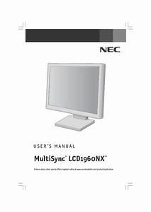 Lcd1960nx Manuals