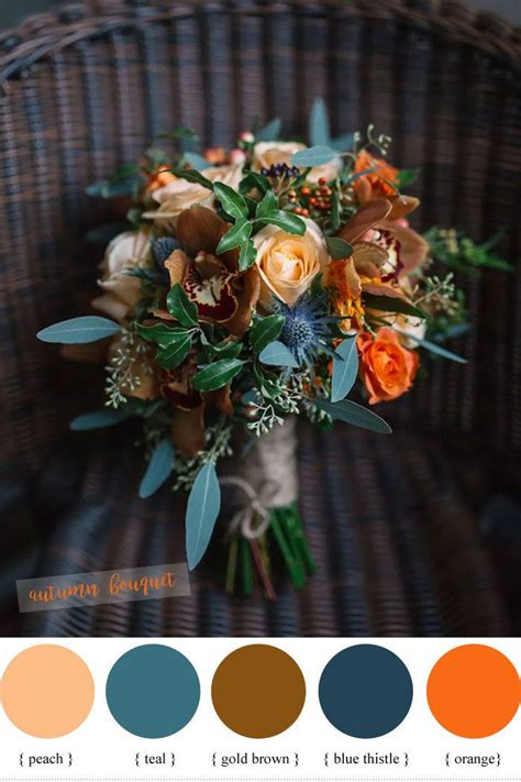 Magnificent Autumn Wedding Bouquets Fall Wedding Colors