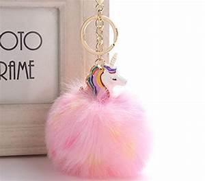 Porte Clef Licorne : glassgow porte cl clef pompon fourrure peluche femme fille licorne kawaii pendentif original ~ Teatrodelosmanantiales.com Idées de Décoration