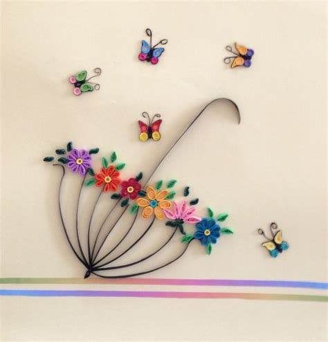paper quilling butterfly umbrella spring pinteres