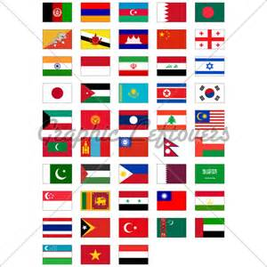 All Asian Countries Flags