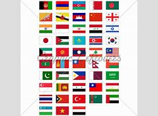 Vector Flag Set Of All Asian Countries · GL Stock Images