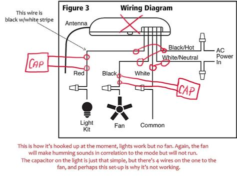Wiring Diagram Remote Ceiling Fan by Ceiling Fan With Remote Wiring Diagram Honeywell
