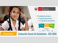 Resultados de la Evaluación Censal de Estudiantes ECE