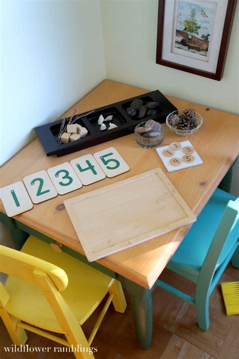 reggio inspired math table wildflower ramblings