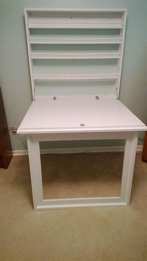 Fold Up Bookcase by Hometalk Fold Up Craft Table And Storage Shelves