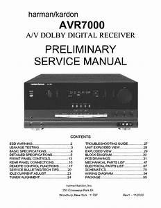 Harman Kardon Avr7000 Rev1 Service Manual Download