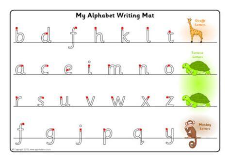 giraffe tortoise  monkey letter formation mats sb