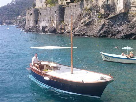 Catamaran Hire Amalfi Coast by Italian Coast Fiart 25 Gozzo Boat Rental Motor Boat