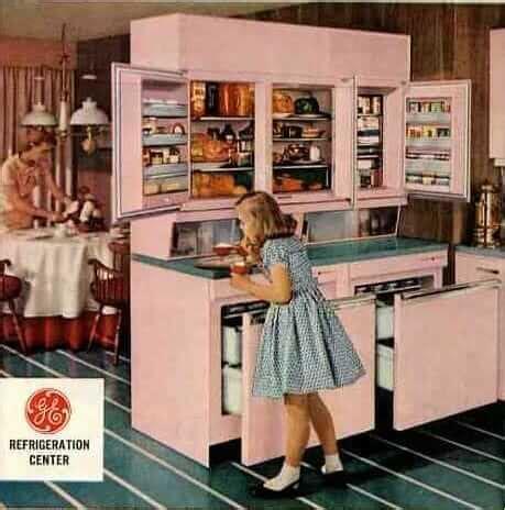 amazing vintage refrigerator  ge  includes  wall  drawer fridges retro renovation