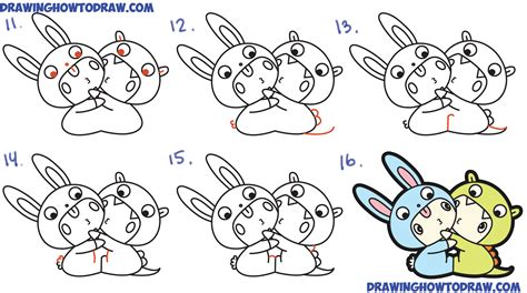 How to Draw Cute Kawaii / Chibi Kids Dressed Up in ...