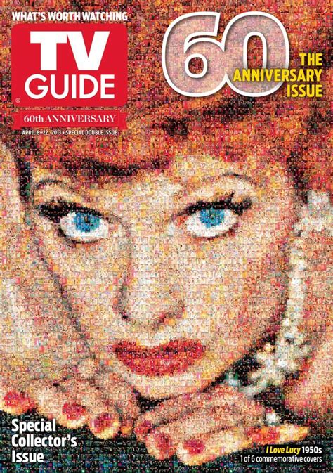 tv guide magazine celebrates  anniversary  mosaic