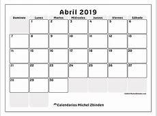 Calendarios abril 2019 DS Michel Zbinden es
