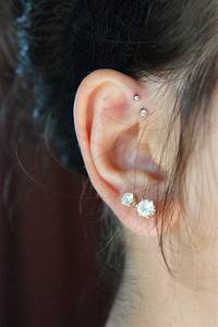 forward helix piercings | Cool Piercings | Pinterest