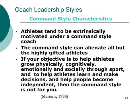 coach leadership styles powerpoint  id