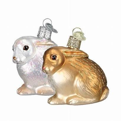 Bunny Ornament Ornaments Cottontail Easter Rabbit Glass