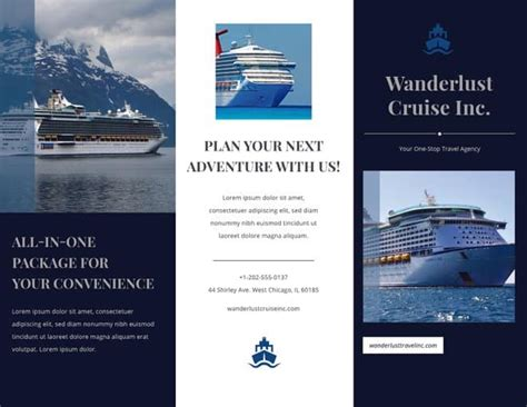 Cruise Travel Brochure Template Design 20 Free Ready Made Brochure Templates For Your Projects