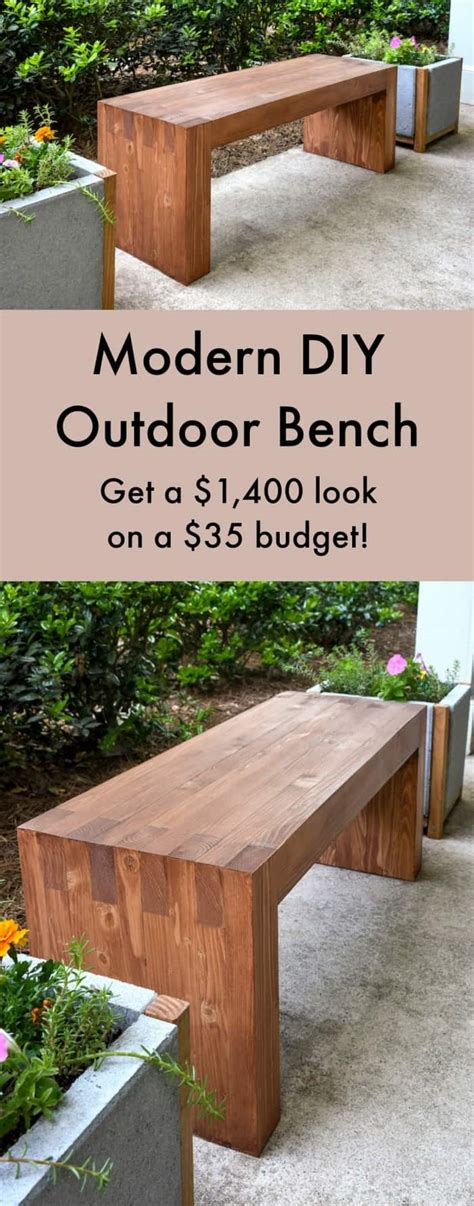 williams sonoma inspired diy outdoor bench diy candy