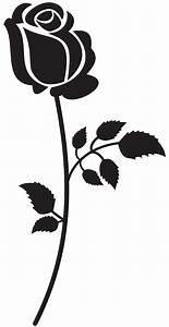 Rose Silhouette PNG Clip Art Image | Gallery Yopriceville ...