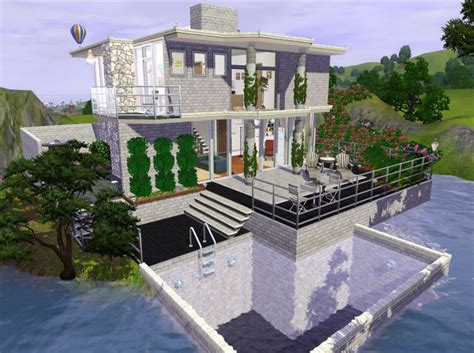 of sims 4 house building small modernity mod the sims sunflower modern house 1 4 sims Best