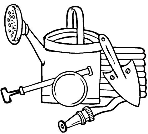 toolbox coloring page garden tools coloring coloring