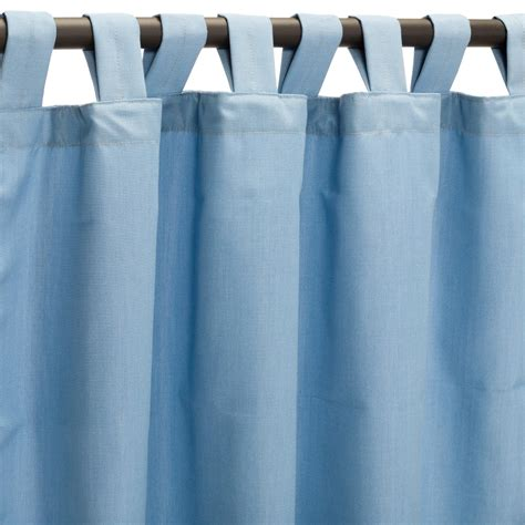 canvas air blue sunbrella outdoor curtains with tabs