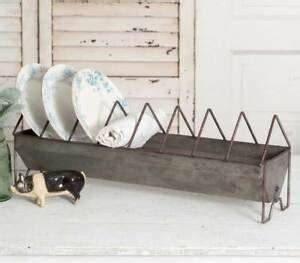 vintage style shabby chic chicken feeder dish plate rack fixer upper farmhouse ebay