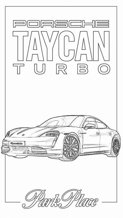 Porsche Coloring Taycan Electric Patrick Dallas Say