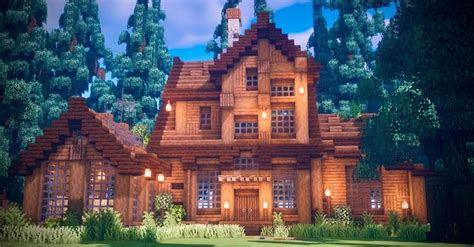 wooden house   woods minecraft   easy minecraft houses minecraft house plans