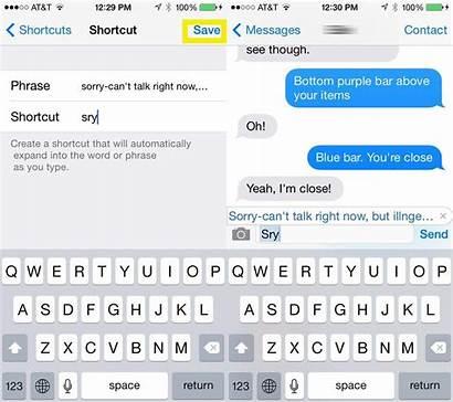 Shortcuts Message Keyboard Quick Response Take Bad