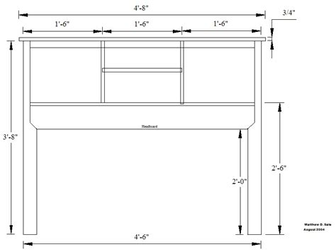 headboard plans woodoperating  technique  paper