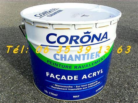 pot de peinture vide neuf 2 pots de peinture acrylique corona ton 10l 177 70m 178 neuf negoce land