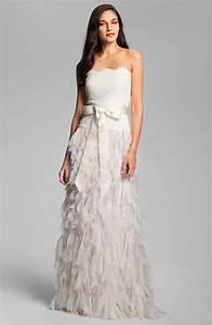 tadashi shoji wedding dress strapless romantic onewedcom With tadashi shoji wedding dresses
