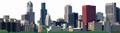 Skyline Chicago Clipart Transparent Buildings Webstockreview