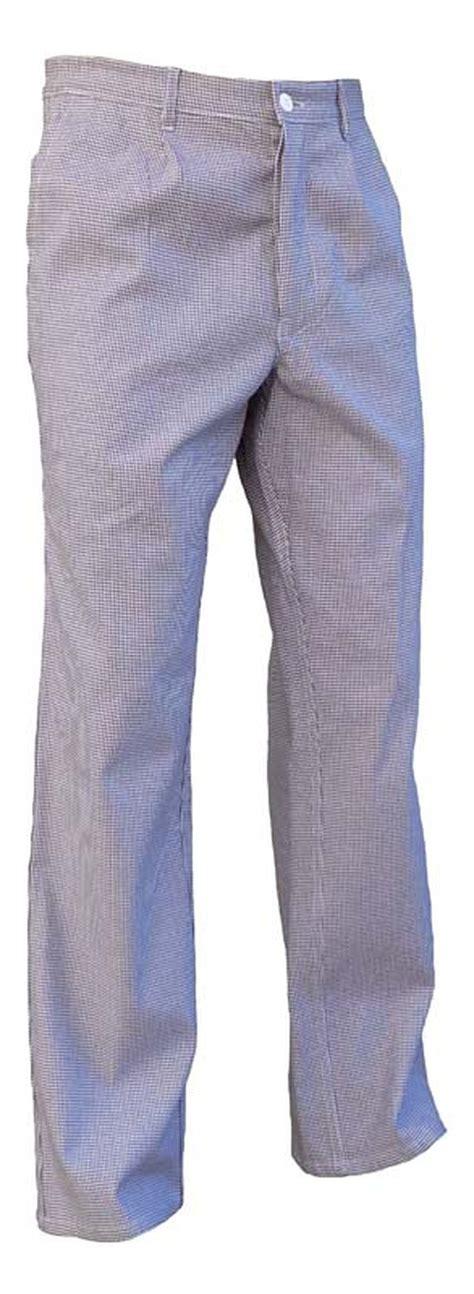 vetement de travail cuisine pantalon cuisine coton pied de poule elastique vetements