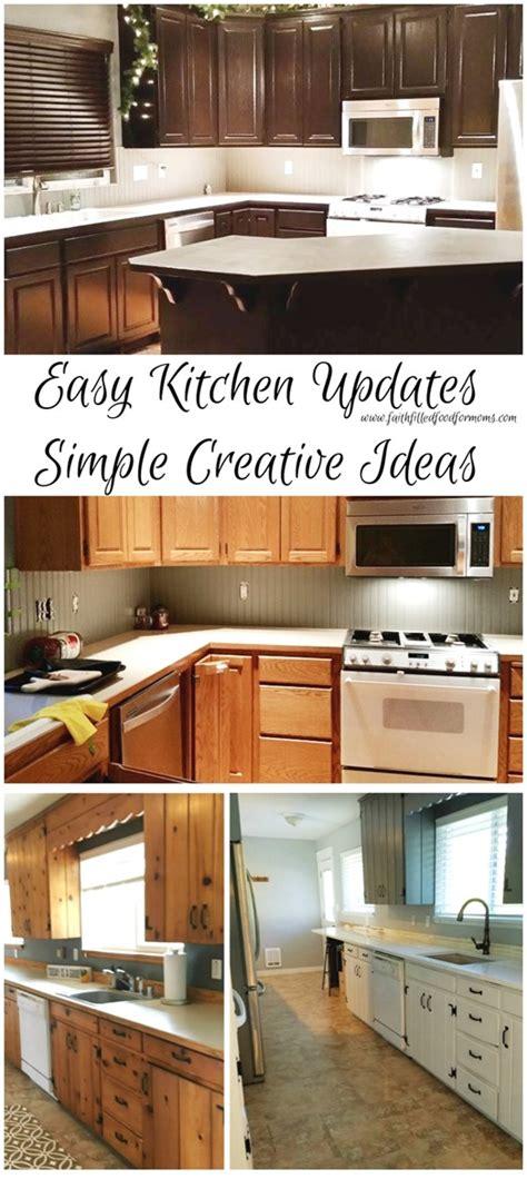 Quick Easy Kitchen Updates Simple Creative Ideas • Faith
